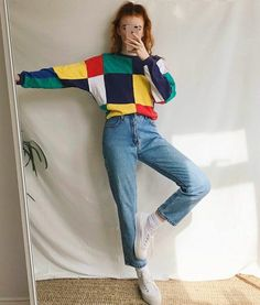 indie fashion New fashion indie grunge style Ideas Vintage Outfits, Retro Outfits, Grunge Outfits, Casual Outfits, Fashion Outfits, Fashion Vintage, Fashion Clothes, 80s Style Outfits, Indie Outfits