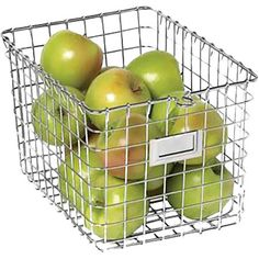 Perfect for stowing onions and avocados or keeping cleaning supplies corralled beneath the sink, this wire storage basket offers essential storage for any sp...
