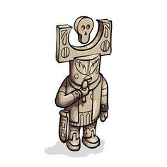 Kachina doll by Krane Crane, Skull Illustration, Montpellier, Spirit, Dolls, Wood, Fictional Characters, Design, Art