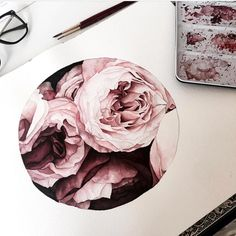 457 Likes, 8 Comments - Krysten Lauren ( - Watercolor Rose Tattoos, Watercolor Images, Watercolor Flowers, Watercolor Paintings, Watercolours, Rose Tattoos For Men, Tattoos For Guys, Flowers Wallpaper, Poster Photo