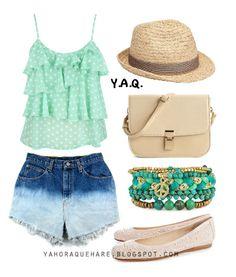Y. A. Q. - Blog de moda, inspiración y tendencias: [Y ahora que me pongo con] Unos shorts dip dye Beautiful Outfits, Cool Outfits, Summer Outfits, Girl Fashion, Fashion Outfits, Womens Fashion, Girl D, Look Chic, Hippie Chic