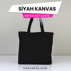 Örgü kulplu ve iç cepli siyah kanvas büyük boy çantaya istecanta.com üzerinden hemen sahip olabilirsiniz. Baskılı sipariş vermek için tasarımınızı destek@istecanta.com mail adresine iletebilirsiniz. #bezcanta #beztorba #plajcantasi #kanvas #siyah #toptan #totebag