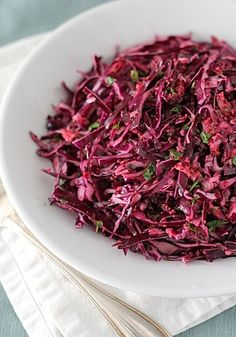 Cabbage Slaw with Cranberry Vinaigrette - Substitute maple sugar with stevia or honey