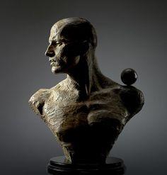 "Richard MacDonald - Viktor Kee Bust Bronze 50.8 x 58.42 x 30.48 cm (20"" x 23"" x 12"")"