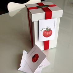 Mini Tomato Grow Box and Note Card #pottingshedcreations #tomatos #garden #gardner #bemyvalentine #valentinesday #iloveyou