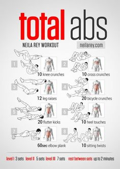 Find all kind of workouts just for men in this Board! #Workout #WorkoutsforMen #MenWorkout #Abs Total Abs Workout