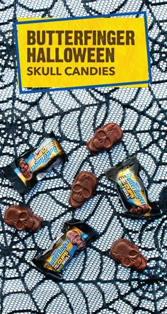 We're loving these BUTTERFINGER® Peanut Butter Cups Skulls. This spooky treat is just in time for Halloween! Bite into the crispety, crunchety, peanut-buttery taste of this festive fall candy bar. Give these Butterfinger sweets out to trick-or-treaters for an easy way to become the most popular house in the neighborhood. Get your fingers on some today.