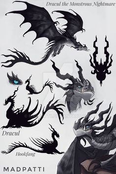 So here's Dracul!💙 He's supposed to be a titan Monstrous Nightmare so he's pretty huge. Dracul the Monstrous Nightmare Mythical Creatures Art, Magical Creatures, Fantasy Creatures, Night Fury Dragon, Beast Creature, Dragon Sketch, Httyd Dragons, Fantasy Beasts, Dragon Artwork