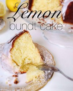 The best lemon bund cake I've ever had ! Melting in your mouth, lemony, really a perfect coffee cake !