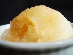 summer lemon and cinnamon sorbet