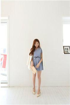 Lovely sky blue dress  #dress #kooding