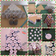 Calendrier de l'avent DIY Sapin de Noël avec rouleaux de papier toilette