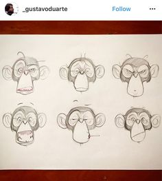 Character Design for a project that, unfortunately, didn't happen. Cartoon Monkey Drawing, Cartoon Drawings, Cartoon Art, Art Drawings, Monkey Drawing Easy, Animal Sketches, Animal Drawings, Art Sketches, Monkey Illustration
