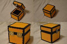 3D Minecraft Perler Chest by ARD95 on DeviantArt - Tutorial : http://www.deviantart.com/art/Perler-Chest-Tutorial-499852484
