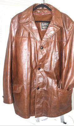 Sears Roebuck And Co..Leather Jacket Size 42.Tall. Basic Jacket, Dark Brown #SearsRoebuckAndCo #BasicJacket