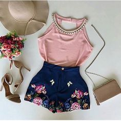 Different shoes and not the hat Classy Outfits, Pretty Outfits, Cool Outfits, Summer Outfits, Casual Outfits, Look Fashion, Girl Fashion, Fashion Outfits, Womens Fashion