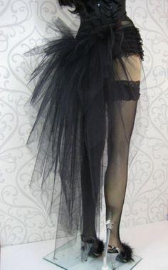 Black Burlesque Tutu Bustle