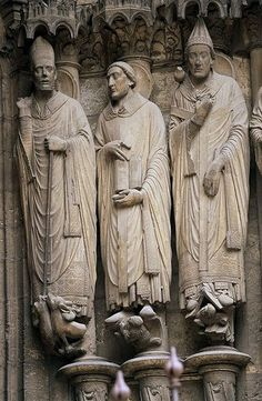 St Martin, St Jerome and St Gregory in Chartres Cathedral.