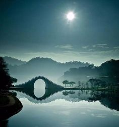 Bridge mystic symbols. Moon Bridge in Taipei, Taiwan is one of the most mystical bridges in the world