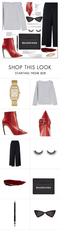"""Luna"" by marinelatadic ❤ liked on Polyvore featuring Balmain, Michele, rag & bone, Alexander McQueen, Diane Von Furstenberg, Balenciaga, Clarins and friendsgiving"