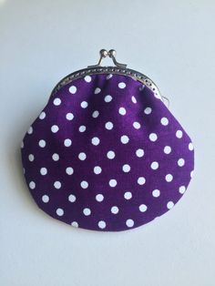 A personal favourite from my Etsy shop https://www.etsy.com/hk-en/listing/469826847/handmade-coin-purse-purple-dots-dots