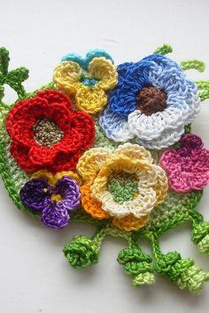 Flores de Crochê: 125 Modelos, Fotos e Passo a Passo