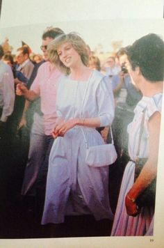 """1983: """"The Peruvian Inca Sweater and fashion designer Benny Ong along with Benetton gave her that signature look. Note the open back Benetton T shirt above she bought in the London store in 1983 pictured above."""""""