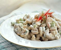 The Wahlberg's Macaroni Salad - Salad - Pasta Wine Recipes, Pasta Recipes, Salad Recipes, Cooking Recipes, Pasta Meals, Cooking Games, Casserole Recipes, Cooking Tips, Vegetarian Recipes