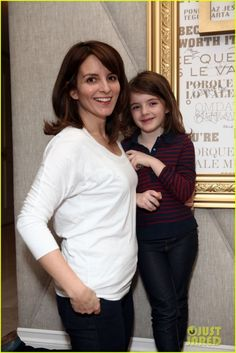 Tina Fey and Her Daughter....I Bet This Funny, Funny Lady Is, Really, A Cool, Fun Mommy!!