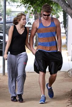 Miley Cyrus and Liam Hemsworth headed to workout in West Hollywood