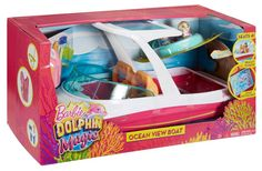 Barbie Dolphin Magic Ocean View Boat Playset - Take Barbie Doll and Her Friends for a Water Ride - Puppies Can Tube Behind - Scuba Snorkel and Life Vest Included - Dolls Sold Separately, Barbie Car, Barbie Doll Set, Barbie Sets, Doll Clothes Barbie, Barbie Doll House, Barbie Stuff, Ken Doll, Toys For Girls, Kids Toys