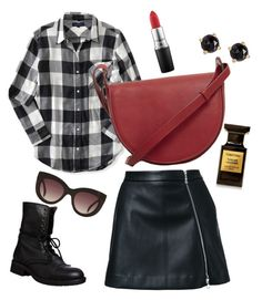 Leather's Chic by grizabella on Polyvore featuring polyvore, fashion, style, Aéropostale, Guild Prime, Steve Madden, MANGO, Irene Neuwirth, MAC Cosmetics, Tom Ford and clothing