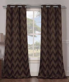 Chocolate Lysanna Blackout Curtain Panel - Set of Two #zulily #zulilyfinds