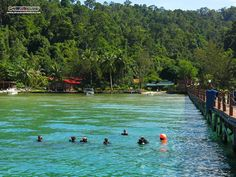 Beautiful tropical setting for the July 2013 IE - only 8 minute speedboat ride from Kota Kinabalu!