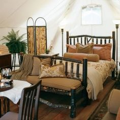 Combining a rustic nature experience with extreme luxury, 'Glamping' in the Clayoquot Sound Biosphere, British Columbia.