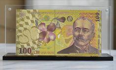 Bancnota de 100 de lei placata cu aur de 24k Cand e bine sa oferi bani cadou