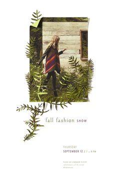 Anthropologie paper cut fashion show flyer