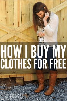 """Budgeting for clothing can be a challenge especially when that clothing is considered """"nice"""". So how to buy clothing for free when you're on budget? This is how I purchase the majority of my """"nice"""" clothing for free."""