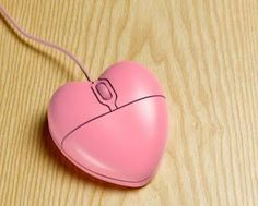Pink heart mouse....