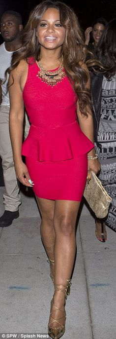 Red-dy to be single again: The Love Don't Cost A Thing actress cut a stylish figure as she...