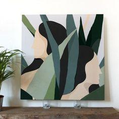 — Women 3 - acrylic on canvas Small Canvas Art, Mini Canvas Art, Painting Inspiration, Art Inspo, Abstract Wall Art, Watercolor Art, Art Projects, Art Drawings, Illustration Art