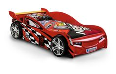 Scorpion Racer Red Lacquered Finish Bed