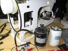 Stepper motor controlled sewing machine