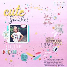 What Matters Most Scrapbook Layout by Heather Leopard #scrapbooking #scrapbook Gossamer Blue #gossamerblue