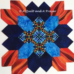A Quilt and A Prayer: Patchwork of the Crosses! This is one of the most beautiful fabric color combos I've seen! Hexagon Quilt Pattern, Paper Pieced Quilt Patterns, Sew Mama Sew, Cross Quilt, English Paper Piecing, Quilting Projects, Blue Backgrounds, 4th Of July Wreath, Quilt Blocks