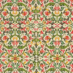 Tiled Floral Florentine Print Paper ~ Rossi Italy