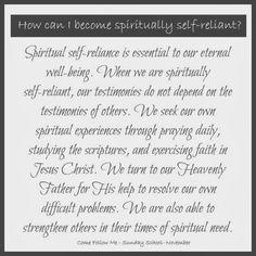 November Sunday School Handouts - Spiritual and Temporal Self-Reliance / La autosuficiencia espiritual y temporal - The Things I Love Most