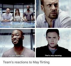 "#AgentsofSHIELD 2x4 ""Face My Enemy"" - Nick, Skye, Triplett and Fitz"