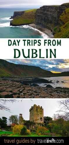 Discover the best day trips from Dublin! We have short day trips (less than 2 hours), long day trips hours) and even day trips from Dublin to Northern Ireland Dublin Day Trips, Dublin Travel, Europe Travel Tips, Ireland Travel, Travel Destinations, Cork Ireland, Budget Travel, Ireland Food, Ireland Homes