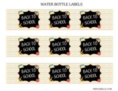 Free Back to School Printables + Extras #freeprintables #backtoschool  #waterbottlelabels
